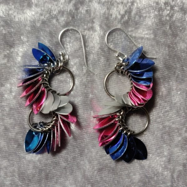 Transgender Pride earrings