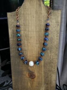 Blue & copper necklace